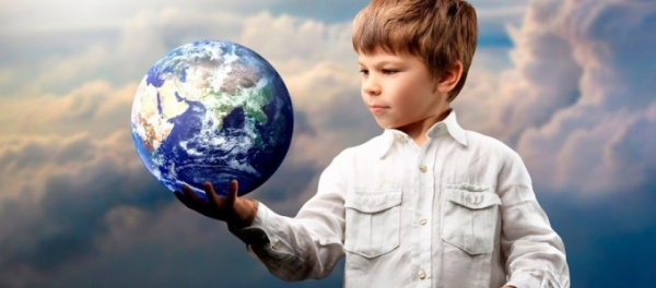 Earth In Child's Hand